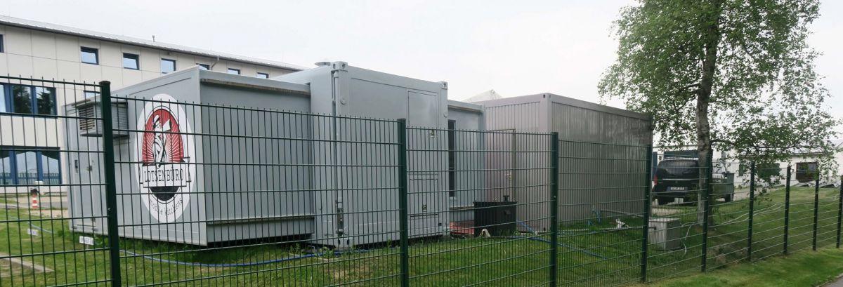 Information lotsenb ro mobile k chen for Badezimmer container mieten